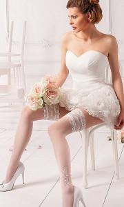 pończochy samonośne do ślubu